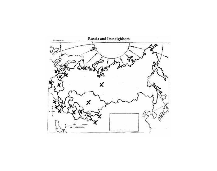 Map Quiz #3-Russia and Neighbors