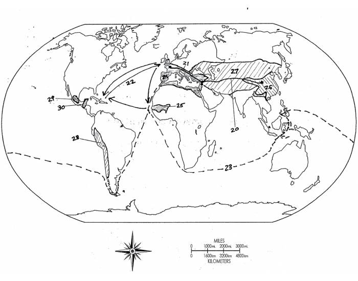Map 2- Civilizations and Movement of People