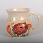 Mug - poppies fat