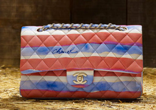 Chanel classic flap in red, white, & blue