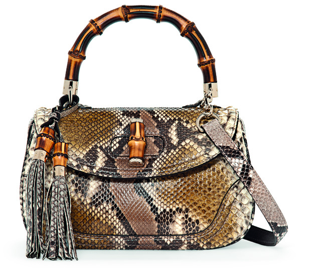 Gucci Python New Bamboo Bag