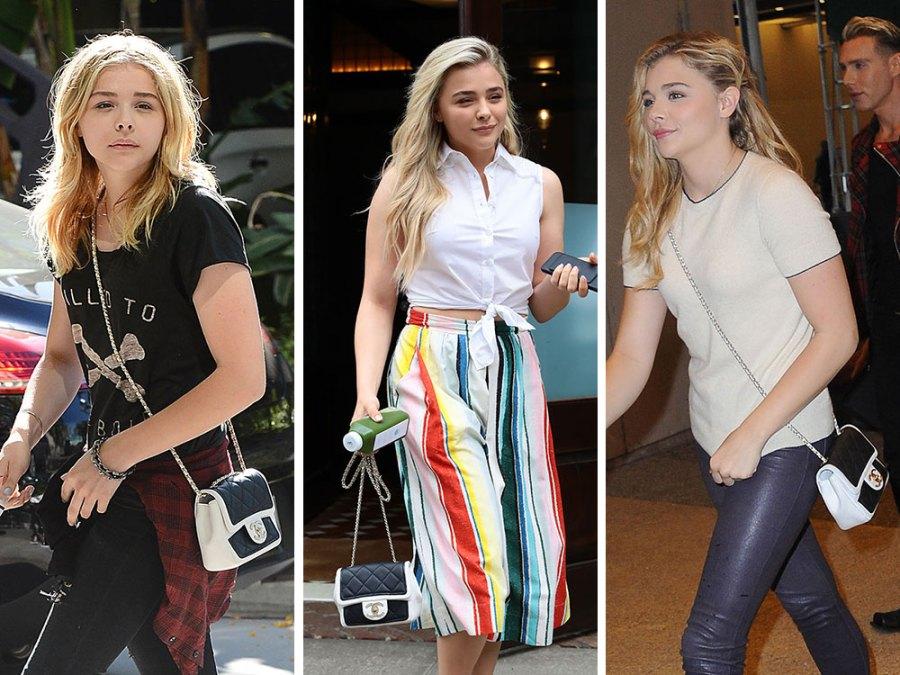 Chloe Grace Moretz Chanel Bicolor Flap Bag - Chloë Grace Moretz houdt van haar Favoriete Chanel Bicolor Flap Tas