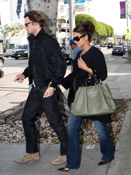 Halle Berry Style Bulgari Ostrich Bag  PurseBlog
