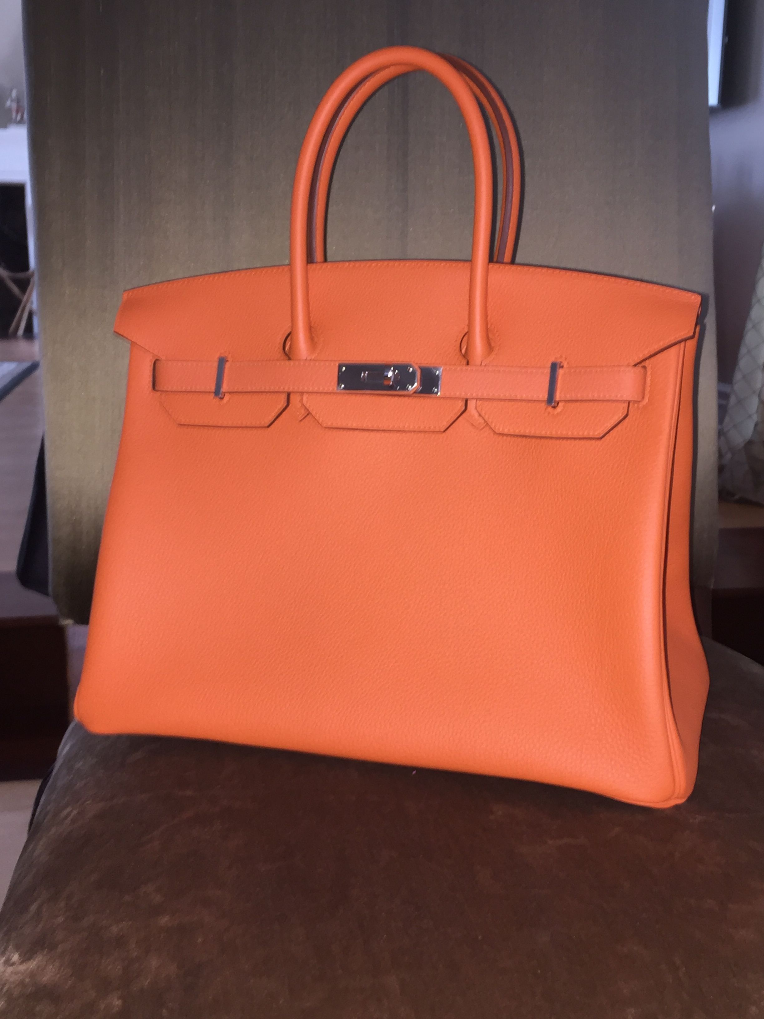 canada gread h35 hermes birkin 35cm tote bags granulate calf leather ... 522650e7c3b31