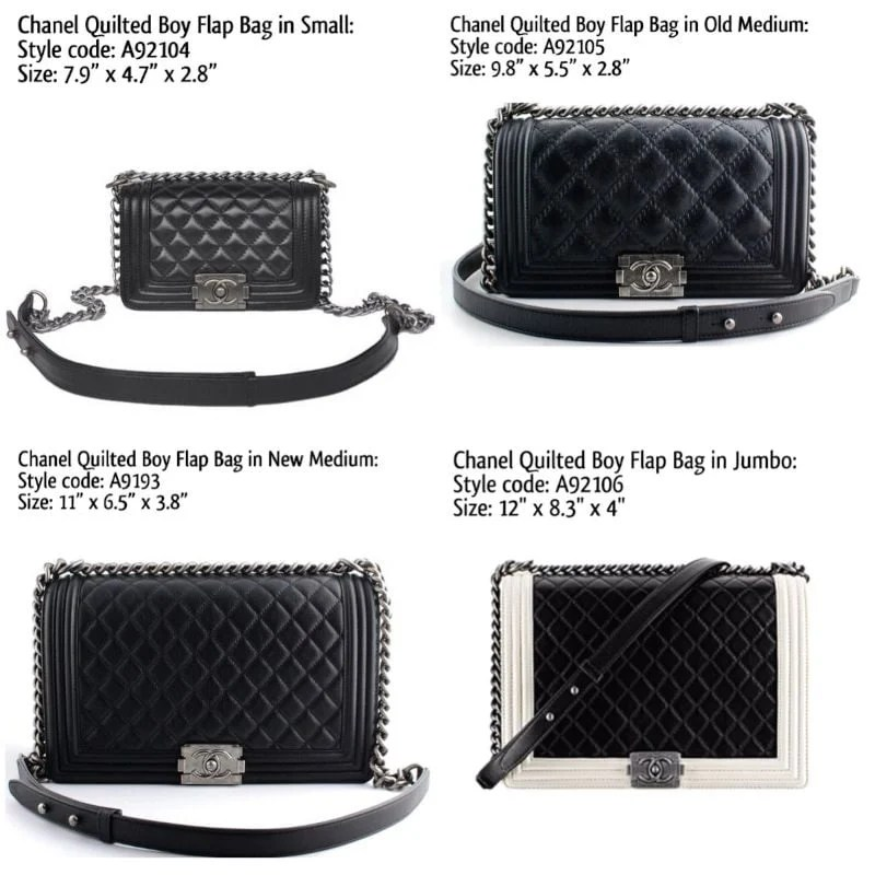 Chanel Boy Bag Reference Guide