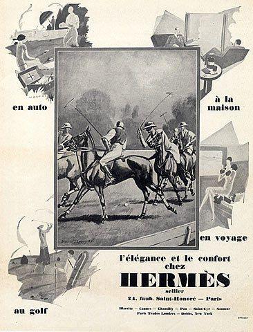 Hermès advertisement, 1927. Photo courtesy: HPRINTS.com