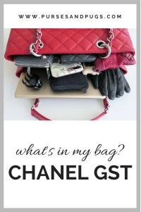 What's in my Chanel bag? The Chanel GST. The Chanel grand shopping tote.