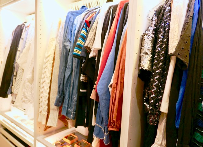 My closet full of clothes