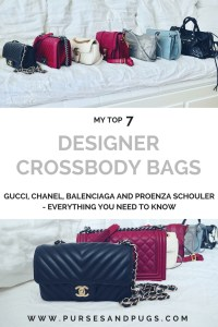 My favorite designer crossbody bags. Chanel, Gucci, Balenciaga and Proenza Schouler, everyhting you need to know about my top 7 crossbody bags.
