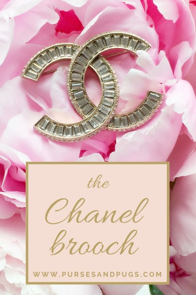 chanel crystal brooch, how to style a chanel brooch and pink peonies