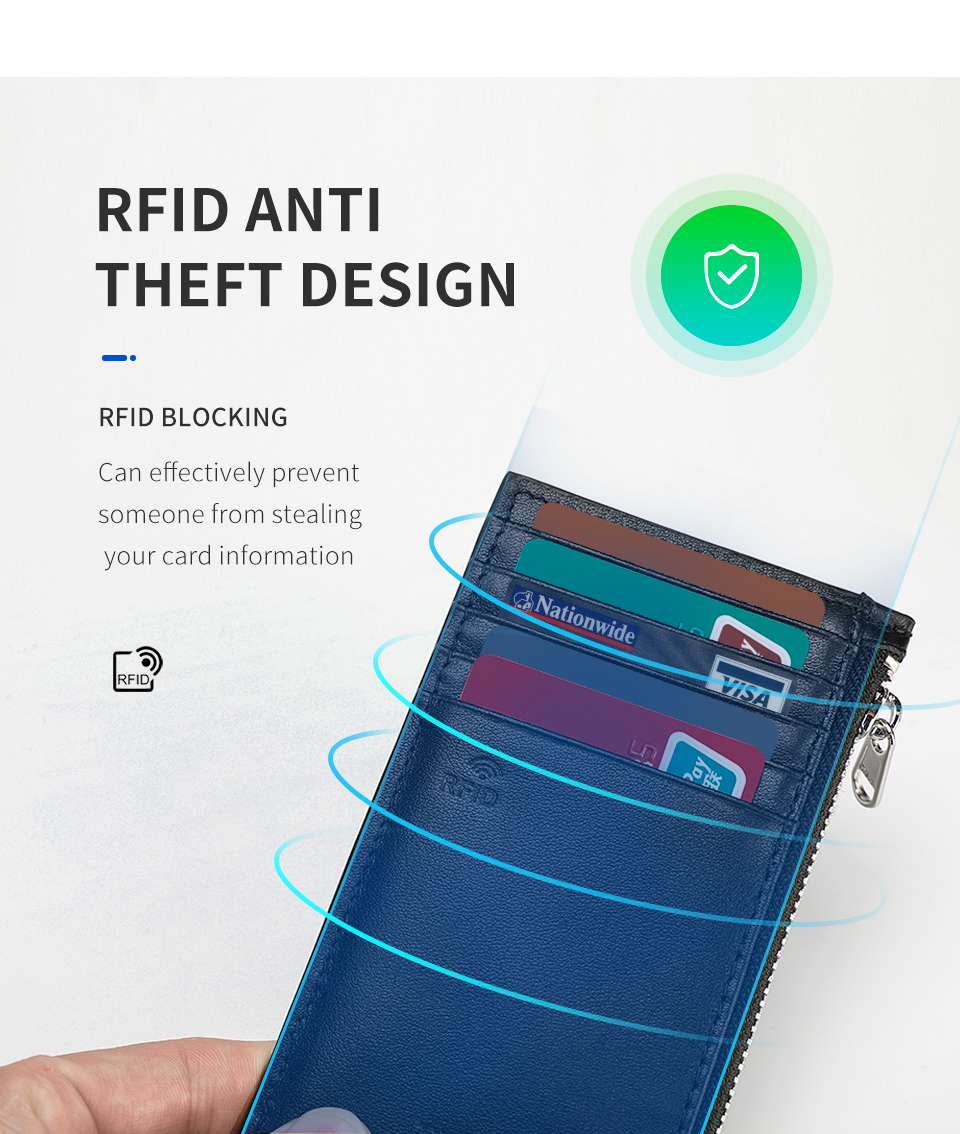 Fashion RFID Anti Thef Blocking Protection Card ID Holders Wallets
