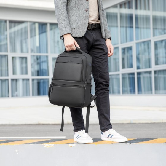 Fashion USB Charging Business Travel Laptop Backpacks College Students Bags Basta