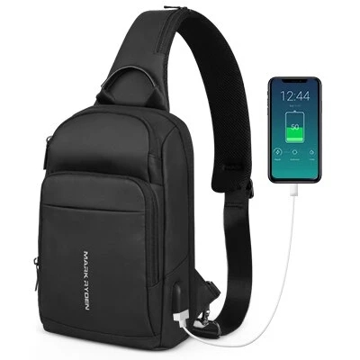 Fashion USB Charging Crossbody Sling Bag Mini Compacto