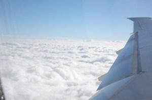 Terbang diatas awan