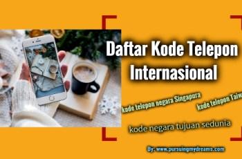 Daftar Kode Telepon Internasional