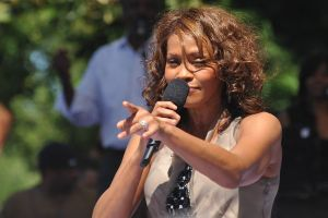 American singer Whitney Houston performing on Good Morning America (Central Park, New York City) on September 1, 2009