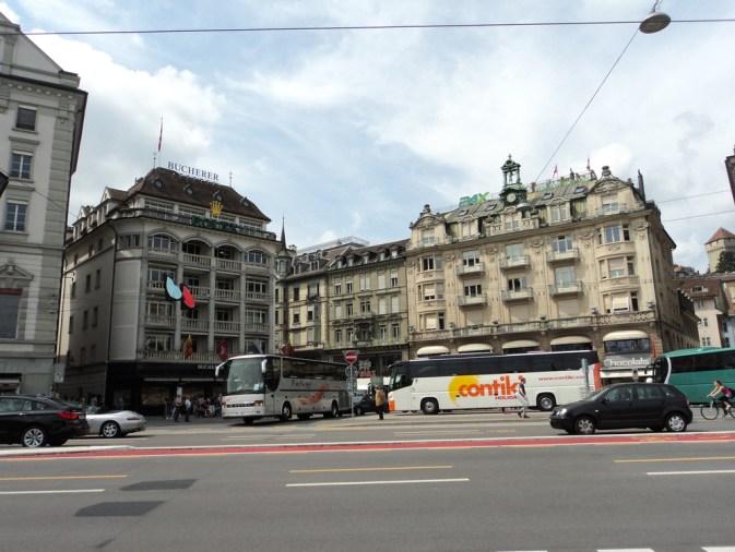 Model Bangunan di Pusat Kota Luzern