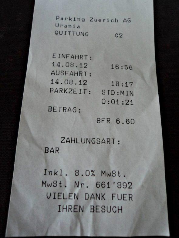Mahalnya parkir di Zurich swiss
