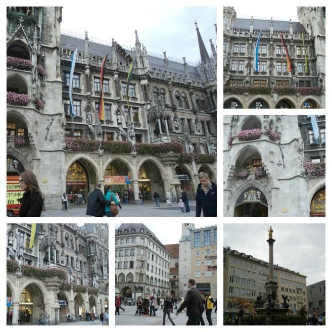 Bangunan-bangunan Indah di Marienplatz, München (Foto: dok. pribadi)