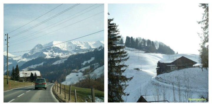 Pemandagan Pegunungan es di Swiss