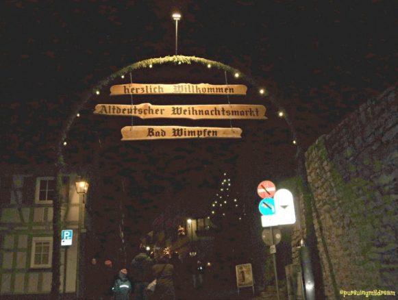 Pasar Natal di Kota Tua Bad Wimpfen. Selamat Datang di Pasar Natal Kota Tua Bad Wimpfen