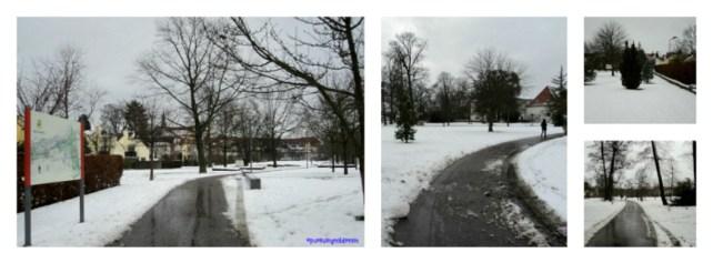 Pemandangan Taman di Bad Rappenau ketika Musim Dingin. Foto 10 Desember 2012