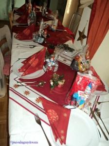 Asyikk Yang Hadir Dapat Hadiah. Foto 12. Dekorasi Meja Makan Suasana Natal