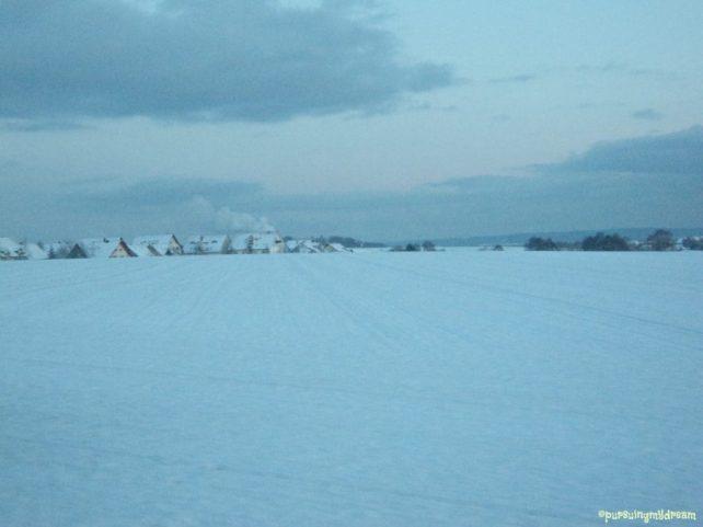 Ladang Pertanian Kini Tertutup Salju Tebal. Bad Rappenau arah Zimmerhof 06.12.2012 Jam 17.19