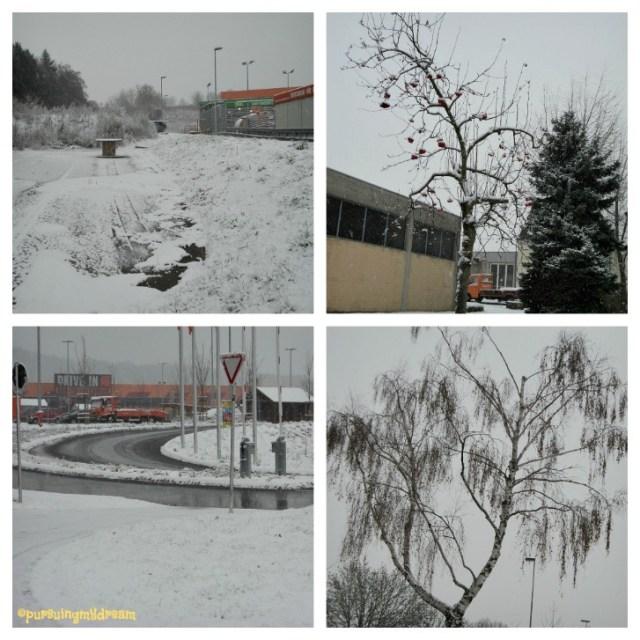 Pemandangan Salju Tebal di Sinsheim Jerman. 07.12.2012