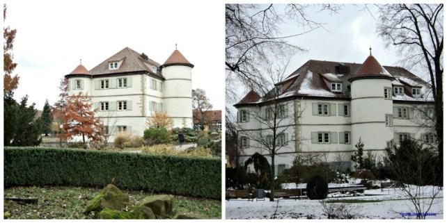 Wasserschloss Bad Rappenau. Kiri 12 Nov 2012 Ketika Musim Gugur, Kanan 10 Desember 2012 Musim Dingin