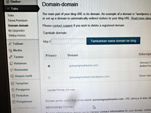 Setelah kamu pasti domainmu belum ada yang punya, silakan tulis dikolomnya