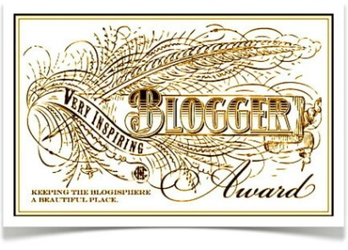 Very Inspiring Blogger Award From Dyaz, Katrina & Evan