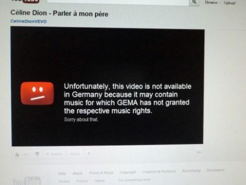 Video Celine Dion tidak Bisa Dibuka