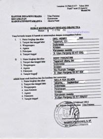 Surat Keterangan untuk Menikah. Model Form N4 dari Kelurahan