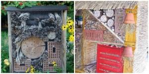 Kiri: Hotel Serangga di Kebun raya Heidelberg Jerman. Kanan Insektenhotel_Innenausbau. Insect Hotel. Sumber Foto Wikipedia