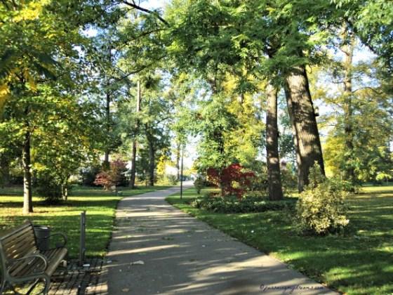 Kalau cape jalan-jalan di Taman, istirahat dulu, ada beberapa bangku di taman ini