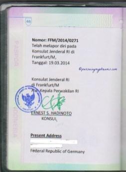 Paspor asli di kirim balik melalui Pos dan Paspor saya sudah diStempel oleh KBRI di Jerman