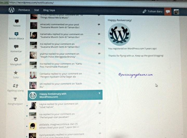 5 Tahun Bersama WordPress