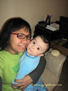 selfie mit meinem son
