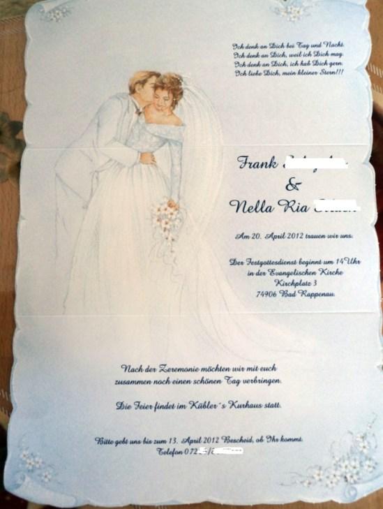 undangan pernikahan bahasa jerman. Undangan Pernikahanku