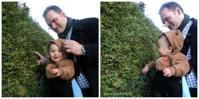 Benjamin senang sekali boleh pegang tanaman di pinggir jalan. Kalau di balkon rumah kami ga boleh pegang lama-lama yaaa, Ben senang cabut daun dan bunga sihhh