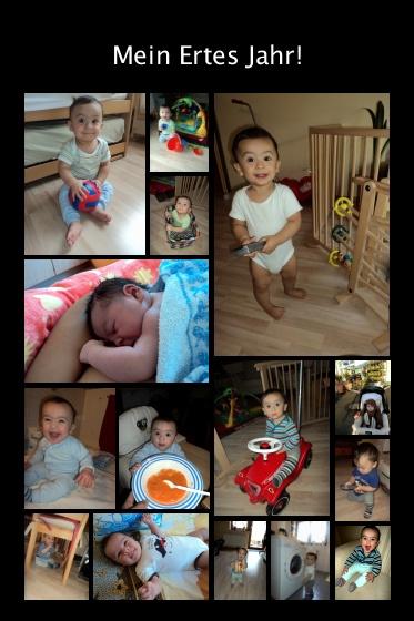 Benjamin First Year Collage Pictures. 9 Lagu Anak-anak Bahasa Jerman