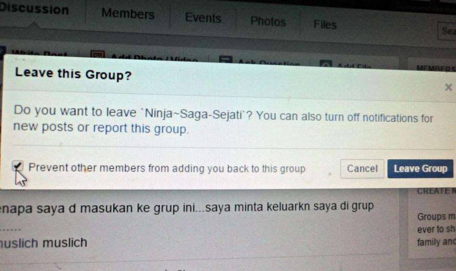 Kesal dimasukkan ke Grup Facebook Ini Cara Keluarnya