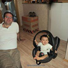 Senyum kompak ayah dan anak