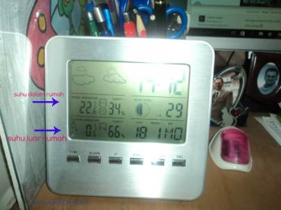 Termomter abal-abal masah suhu luar cuma sampai minus nol saja