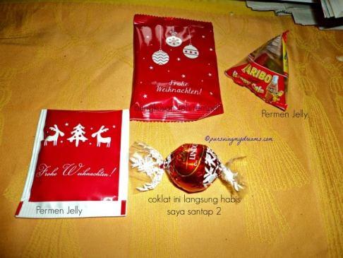 Beberapa hadiah kecil yang saya dapat saat Natal