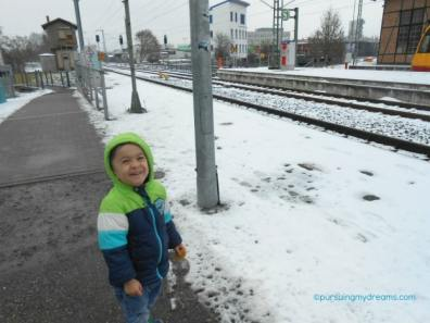 Snowing in Germany