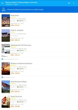 Hasil Pencarian Hotel pakai Traveloka App