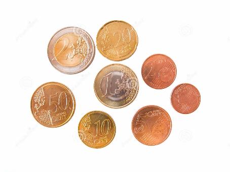Uang Logam di Jerman. All euro coins