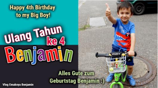 Benjamin Ulang Tahun ke 4